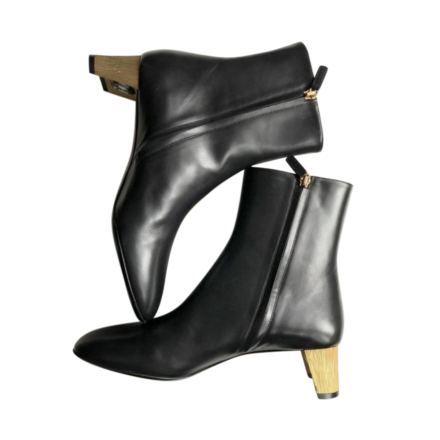 Gucci Black Leather Arielle Ankle Boots