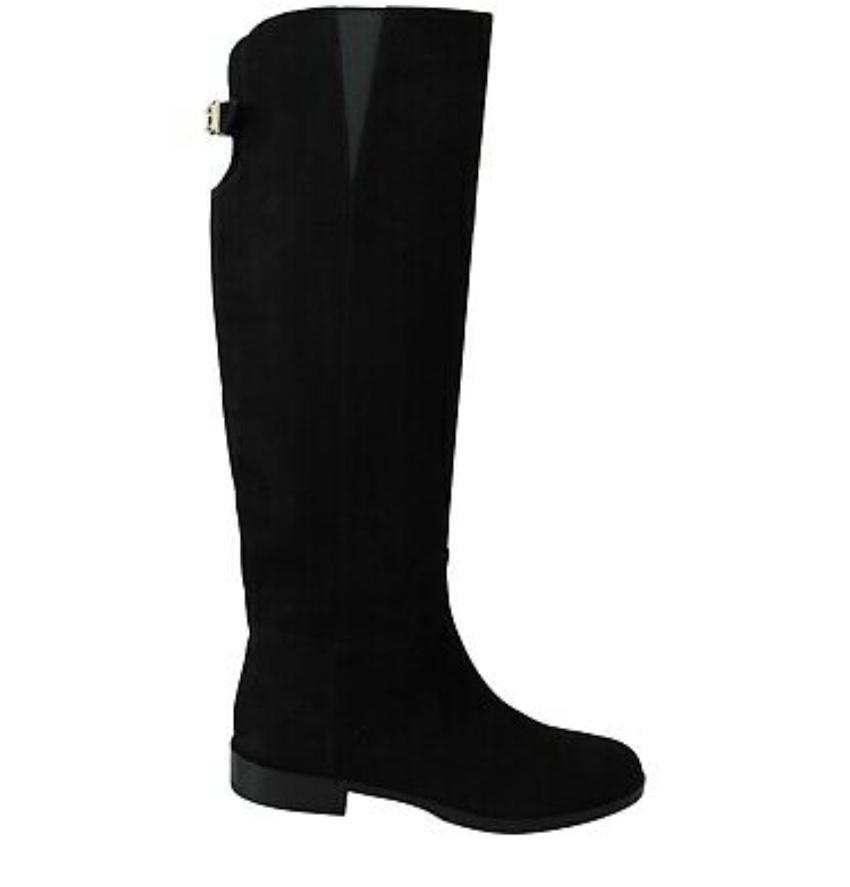 Dolce & Gabbana Black Suede Knee Boots