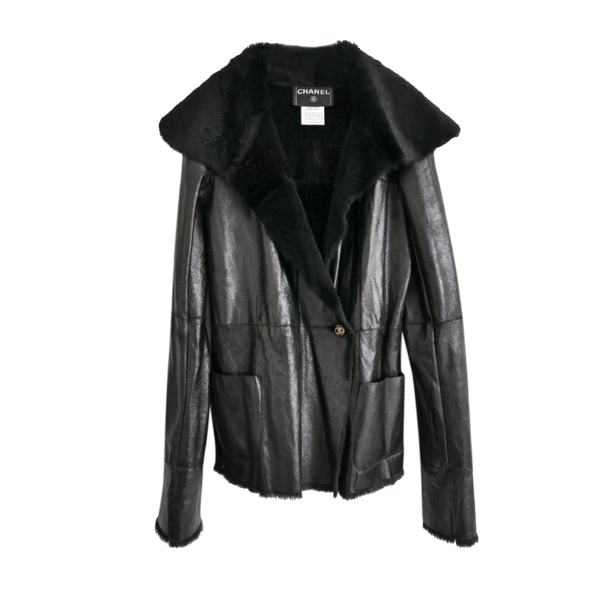 Chanel Paris/Tokyo Rabbit Lined Leather Jacket