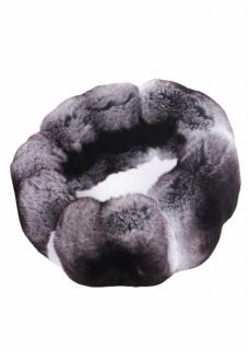 FurbySD Grey Chinchilla Fur Headband