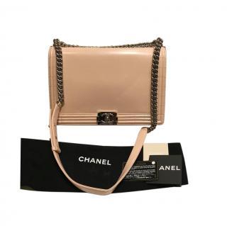 Chanel Powder Patent Limited Edition XL Boy Satchel