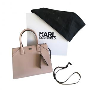 Karl Lagerfeld Large Leather Tote Bag