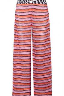 Missoni Mare Cropped Pink Crochet Wide Leg Pants