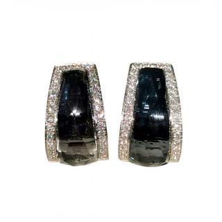 Stephen Webster Black 18ct White Gold Hematite & Crystal Earrings