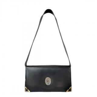 Christian Dior Black Leather Vintage Shoulder Bag