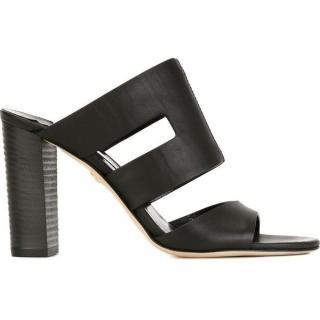 Diane von Furstenberg Cosenza Black Leather Mules