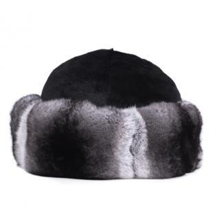 FurbySD Chinchilla Fur Hat