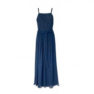 Dior floaty blue chiffon evening dress