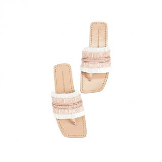 Sigerson Morrison Avis Raffia Thong Sandals