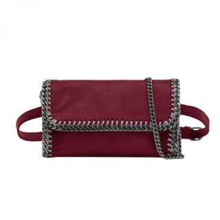 Stella McCartney Ruby Red Falabella Flap Belt Bag