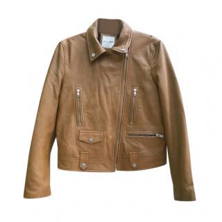 Each x Other Tan Leather Biker Jacket