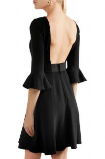 Dolce & Gabbana black crepe open back dress