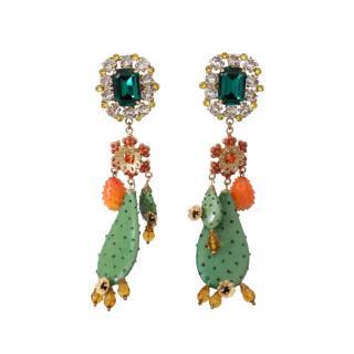 Dolce & Gabbana crystal cactus earrings