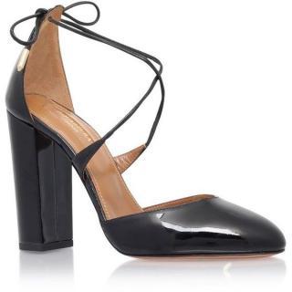 Aquazzura Karlie patent 105mm sandals