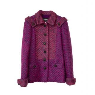 Chanel Paris/Dallas Fuchsia Boucle Tweed Jacket