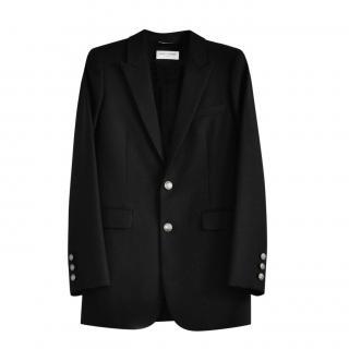 Saint Laurent Black Wool Garbadine Tailored Jacket