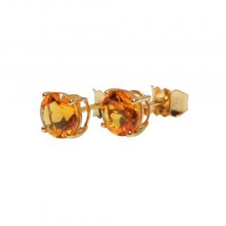 Bespoke 18ct Yellow Gold Citrine Earrings