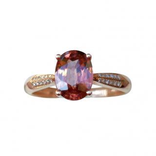 Victoria Tourmaline/Diamond 14ct Rose Gold Ring
