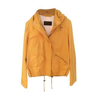 Loro Piana Yellow Hooded Rain Jacket