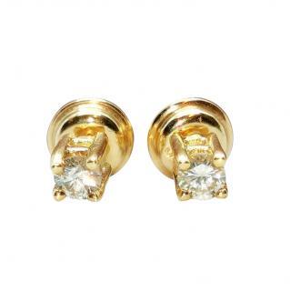 Bespoke 18ct Yellow Gold Diamond Solitaire Earring