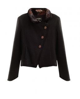 Chanel Paris/Edinburgh Tartan Lined Asymmetric Jacket