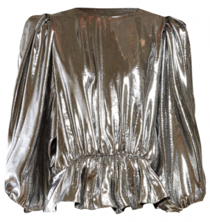 Isabel Marant Kyama draped-back metallic-crepe top