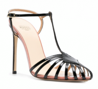 Francesco Russo two-tone patent leather sandals