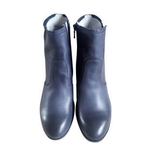 Nero Giardini Blue Nappa Ankle Boots