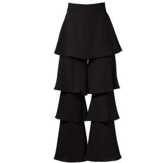 Osman Black Felix Ruffle Trousers