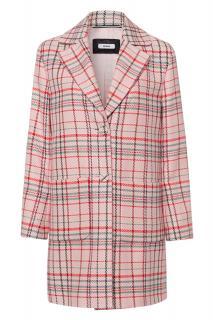 Riana Powder Checked Coat