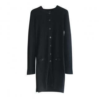 Chanel Black Cotton & Silk Longline Knit Cardigan