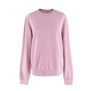 Les Girls Les Boys Dusty Pink Loopback Cotton-Jersey Sweatshirt