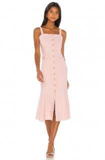 Majorelle Pink Otis Linen Midi Dress