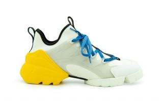 Dior Chunky Lace Up Nylon & Leather Sneakers
