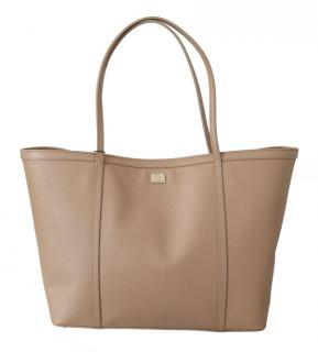 Dolce & Gabbana Beige Leather Tote Bag