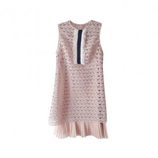 Sandro Blush Lace Kolia Dress