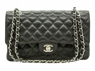 Chanel Black Caviar Leather Medium Double Flap