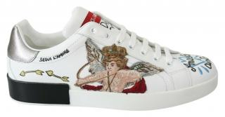 Dolce & Gabbana Cupid Embroidered Sneakers