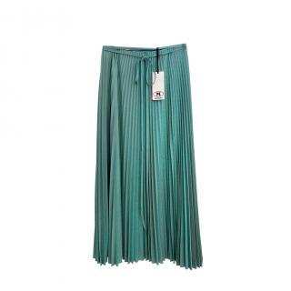 M Missoni Turquoise Pleated Metallic Skirt
