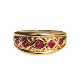 Bespoke Yellow Gold Ruby Set Ring