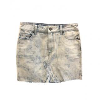Paige Acid Wash Aideen Denim Mini Skirt