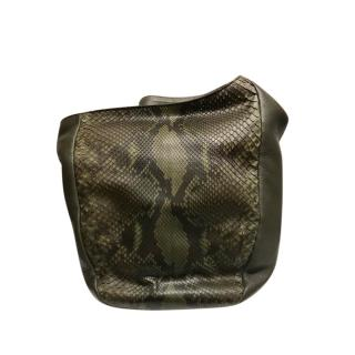 Gucci Green Python & Leather Greenwhich Hobo Bag