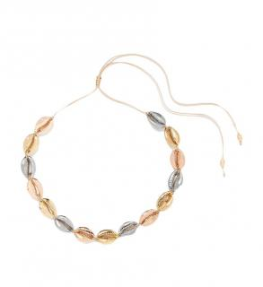 Tohum Gold Plated Yellow Puka Shell Necklace