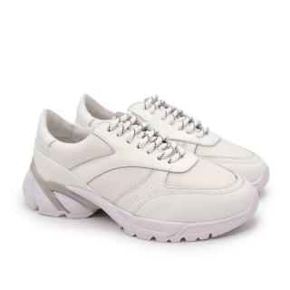 Axel Arigato White Leather & Mesh Chunky Platform Trainers