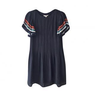 Maje Rolini navy mini dress