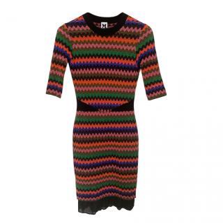 M Missoni Multicoloured Crochet knit Dress
