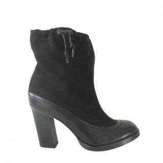 Rag & Bone Black Nubuck Holt Ankle Boots