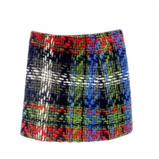 DSquared2 Check Wool Tweed Mini Skirt