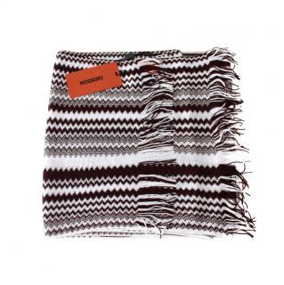 Missoni Black & White Knit Scarf