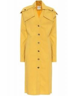 Bottega Veneta Yellow Cotton Poplin Runway Trench Coat Dress
